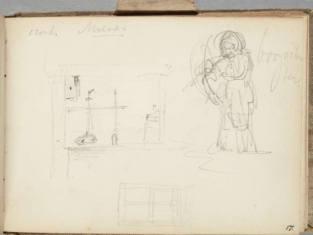 Various sketches. From: A Marken sketchbook.
