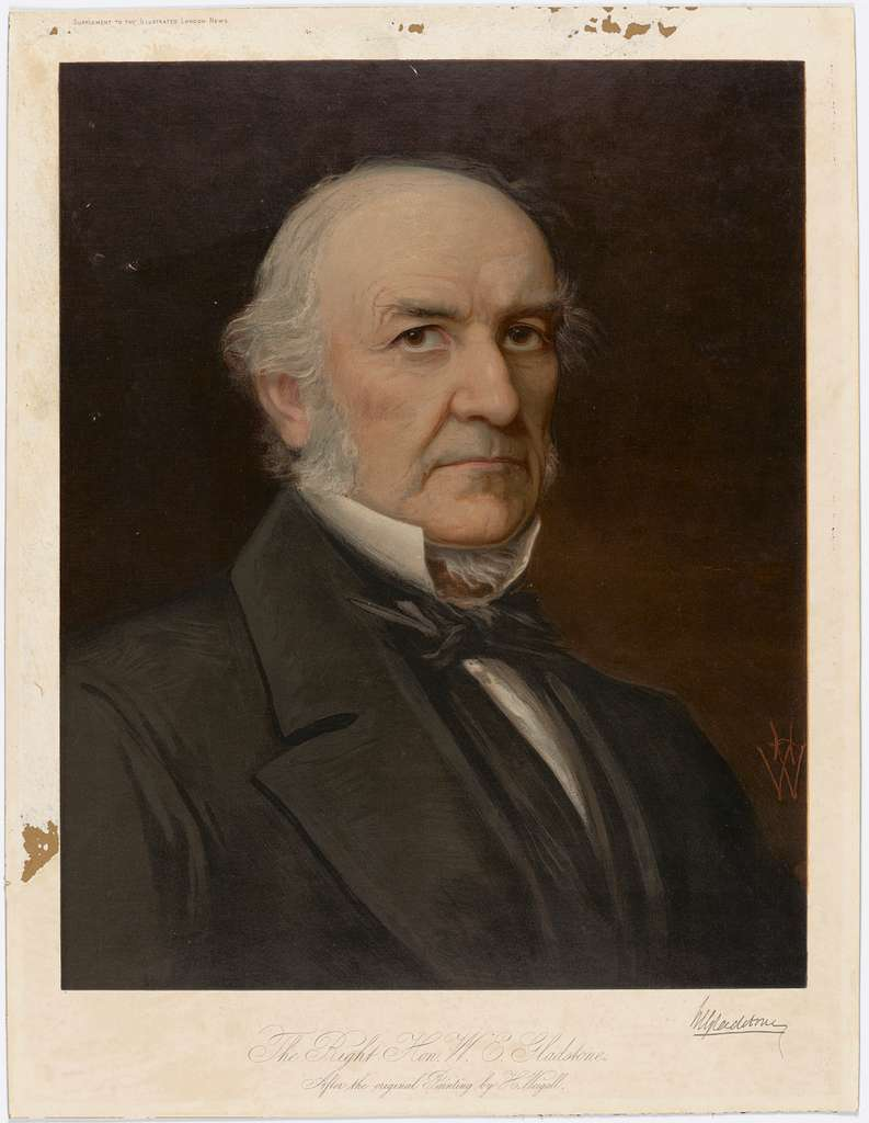 The Right Hon. W.E. Gladstone, after the original Painting by H. Weigall