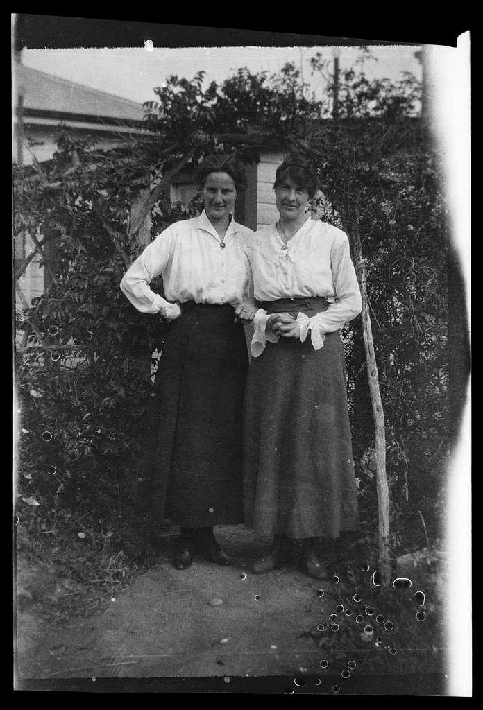 [Women in garden]