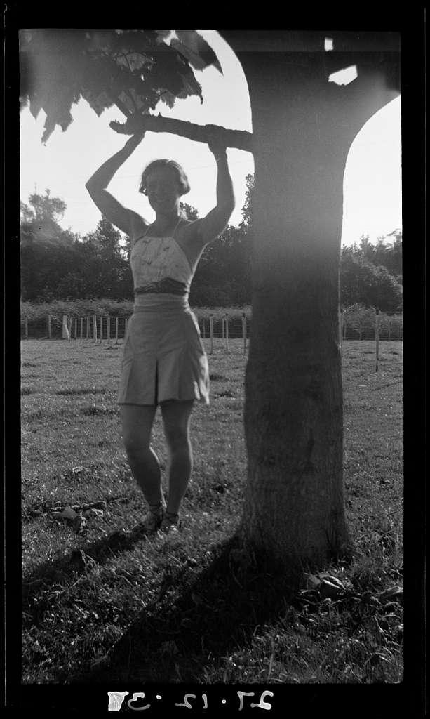 Nancy under Pavlonia tree
